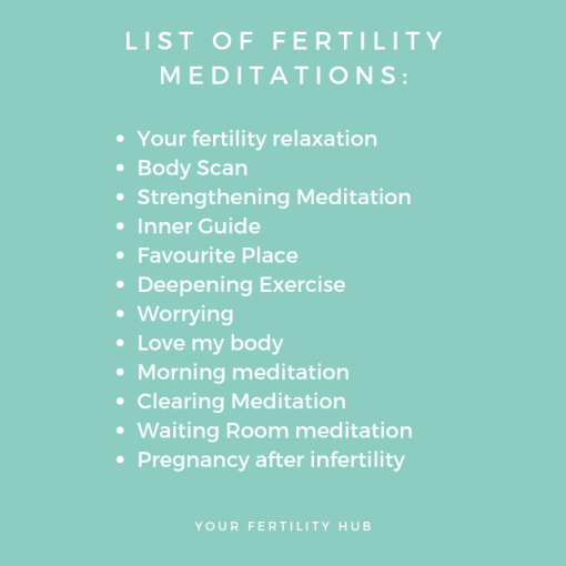 List of fertility meditations