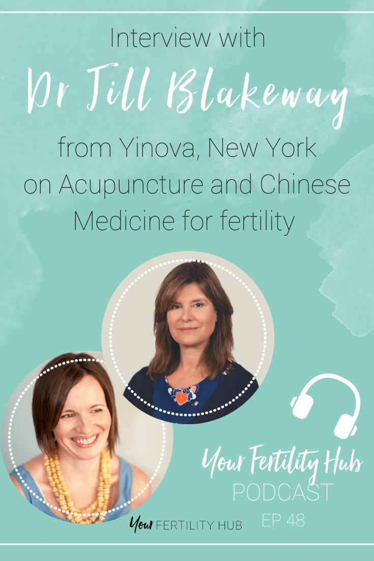 Podcast episode 48 - Acupuncture and Chinese Medicine for fertility with Dr Jill Blakeway of Yinova